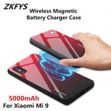ZKFYS Wireless Magnetic Ultra Thin Fast Charger Battery Case For Xiaomi Mi 9 5000mAh Power Bank Back Clip