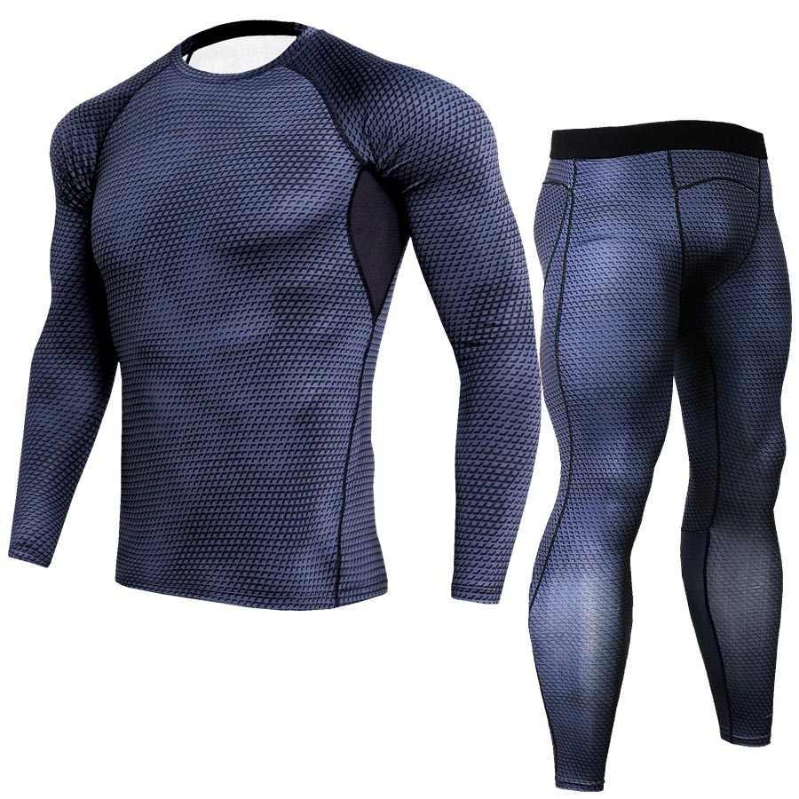 דחיסת סטי Plus גודל גברים אימונית מותג האופנה סקיני הדפסת 3d הבגדים טי כושר קרוספיט באיכות גבוהה חליפות
