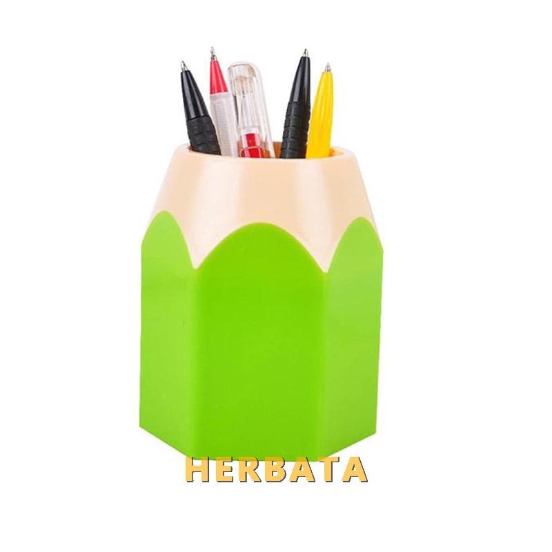 Girls Makeup Brush Pencil Pot Pen Holder Children School Stationery Storage Pencil Container Stationery Pen Holders