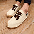 2017 Summer Men's Shoes Linen Canvas Shoes Minow Fisherman Shoes Fashion Straw Shoes