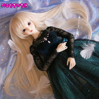 Bjd Wig 1/3 High temperature Fiber Synthetic Girl Long Curly Hair Wig With Bangs On Sale In MUZIWIG