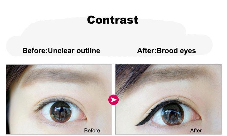 Music Flower 2 in 1 Coffee + Black Gel Eyeliner Make Up Waterproof Eye Liner Cosmetics Set Eyeliner Pens Makeup Brushes Set (9)