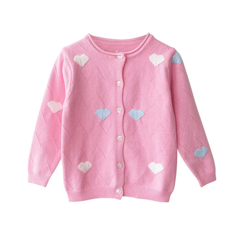 2019 봄 아기 소녀 스웨터 아이 옷 코 튼 어린이 니트 스웨터 코트 귀여운 사랑 심장 소녀 카디 건 자 켓 bc221