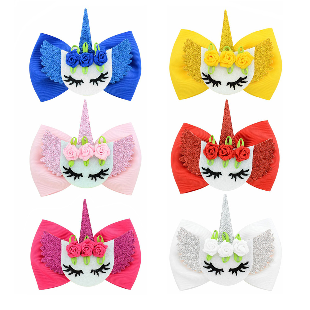 """300 Girl 4.5/""""  New Angel Hair Bow Clip L.O.L Surprise Doll Mermaid Wholesale"""