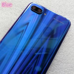Image 3 - Nueva carcasa trasera de vidrio templado 3D para Huawei Honor 10, piezas de repuesto, carcasa trasera para batería, carcasa para puerta + cubierta de Flash + lente de cámara
