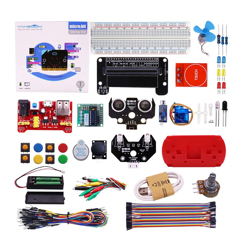Micro:Bit Starter Learning Kit For Kids Bbc Micro-Bit Board Graphical Programmable Stem Toys Electronic Kit For 8+ Kids With 2