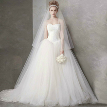 Wedding dress strapless dress trailing cultivate one's morality with the bride's wedding gown