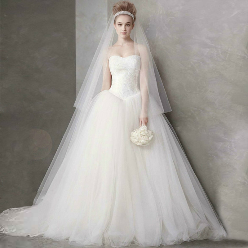 Wedding dress strapless dress trailing cultivate one's morality with the bride's wedding gown свадебное платье happy about the wedding dress hs1861 2015