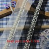2yds Lot 2cm Wide Handmade Bead Black White Pearl Tube Clothing Lace Accessories Clothing Lace Decoration