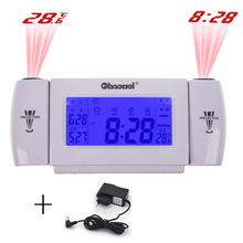 Digital Alarm Clock LCD Screen Display  8 Second EL Backlight Snooze Dual Projection Table Clock Clapping Voice Controlled Watch