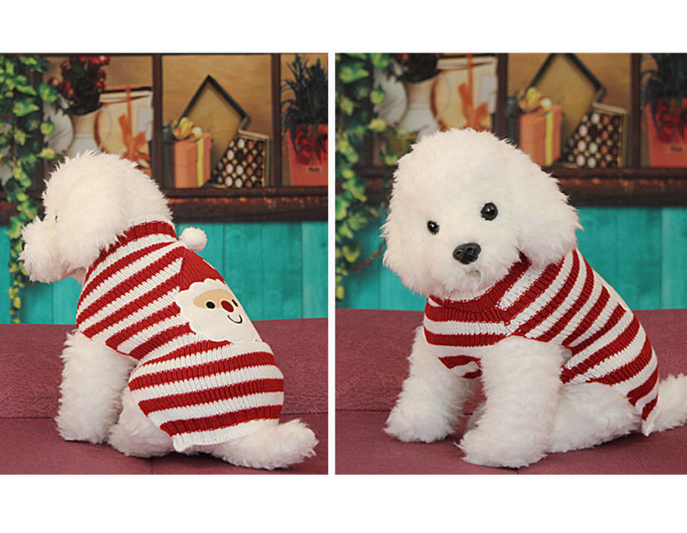 Christmas Knit Crochet Dog Sweater Cothes For Dachshunds Dog Santa