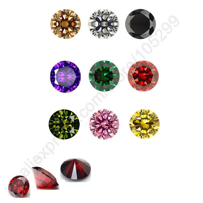 JEXXI 100PCS 5MM Fine Jewellery Components Round Cubic Zirconia CZ Stone Handmade Beadings Findings Jewelry Accessoies