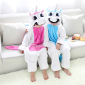 Blue Pink Unicorn Pajamas Flannel Children's Sleepwear Pajama For Girls Boys Kids Long Sleeve Animal Pyjama