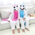 Blue Pink Unicorn Pajamas Flannel Children's Sleepwear Pajama For Girls Boys Kids Long Sleeve Animal Pyjama