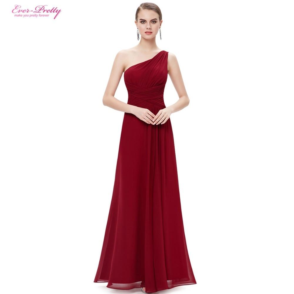 Clearance Sale] Burgundy Prom Dresses Ever Pretty Long Maxi Elegant ...