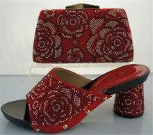 จัดส่งฟรีโดยDHL, 2016รองเท้าอิตาลีและถุงเพื่อให้ตรงกับชุดสำหรับผู้หญิงแอฟริกันรองเท้า, ME2215สีแดงที่มีคุณภาพสูงวัสดุ