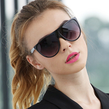 Womens sunglasses 2019 Elegance Oversized Oval Glasses Women Big one lens Sun transparent Frame Eyewear Gafas de sol