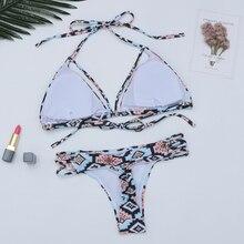 Bandage Push Up Low Waist Brazilian Bikini