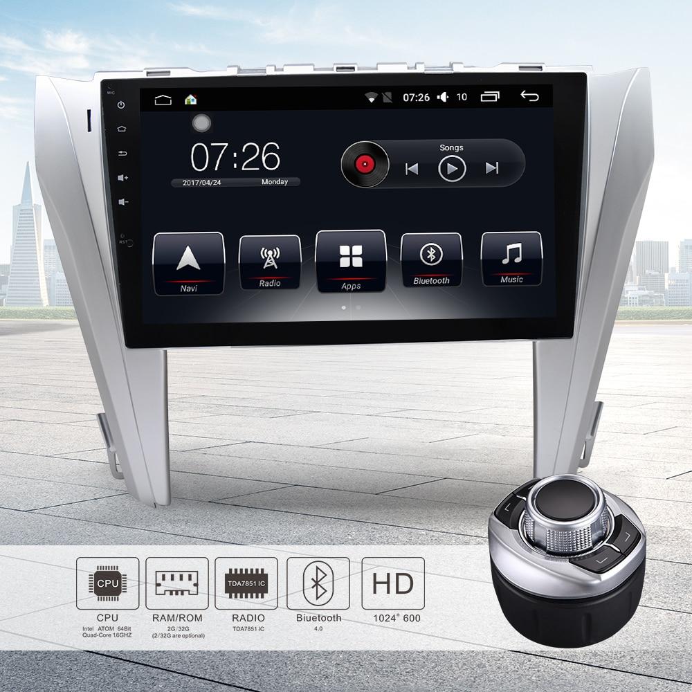 Android 7.1 10.1 Car DVD Player Stereo Radio GPS Navigation Bluetooth 64Bit Quad Core 2GB/16GB Auto Radio for Toyota CmarY 2015