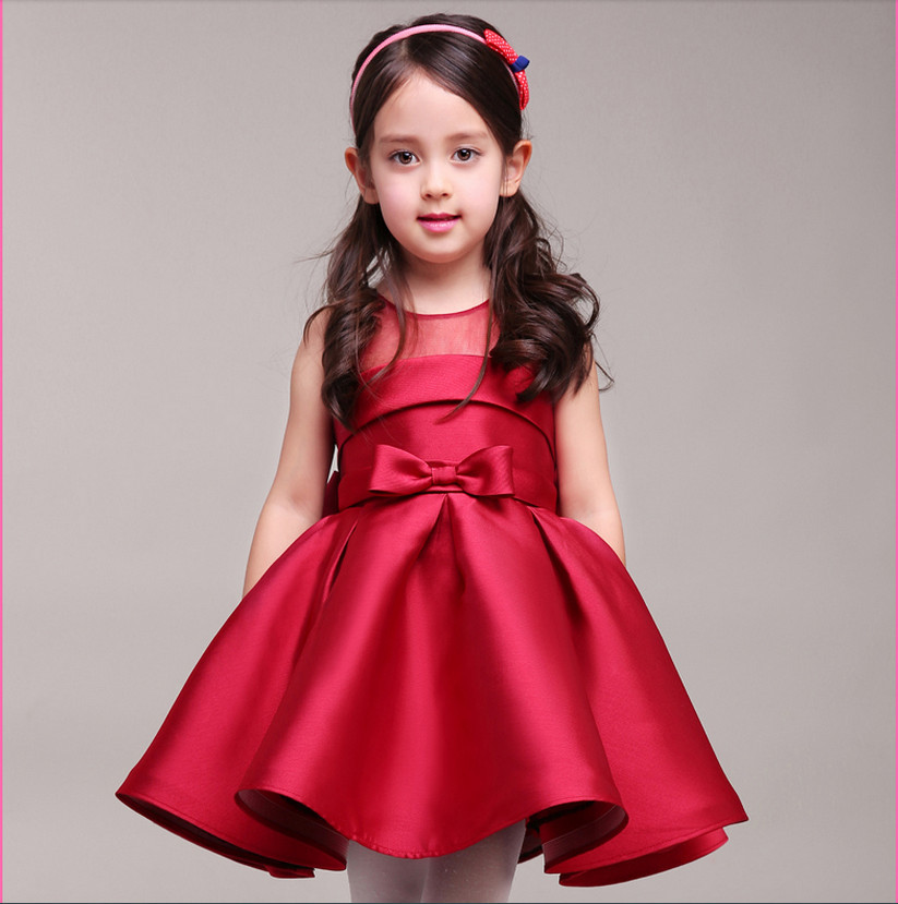 Hot Red Cinderella Latest Style Ball Gown Beauty flower children\'s ...