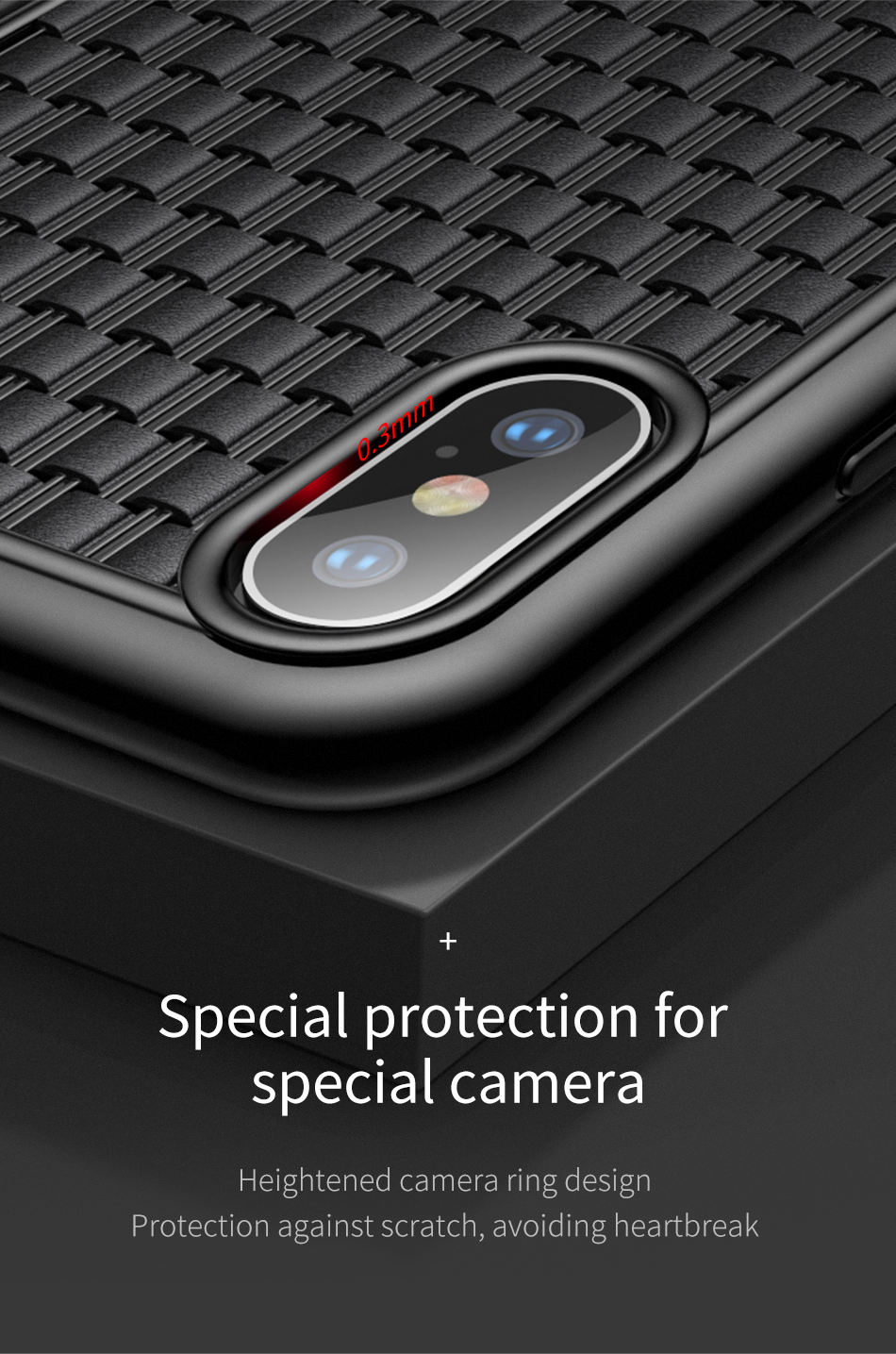 Baseus Luxury Weaving Case For iPhone Xs Xs Max XR 2018 Elegant Grid Pattern Soft Silicone Phone Case For iPhone Xs XR Cover