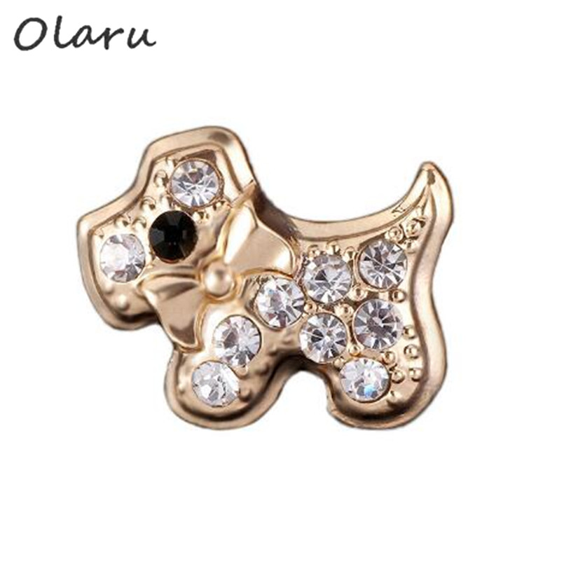 Olaru Extendy Crystal Cute Dog Brooch Jewelry Woman Christmas Statement Clothes Scarf Brooch Pins Accessories New Bijoux SALE