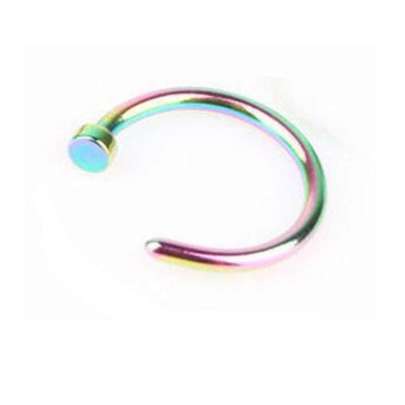 Giả Piercing Vách Ngăn Titan Y Tế Đồ Trang Sức Vòng Mũi Mũi Pin Cơ Thể Clip Hoop Cho Phụ Nữ Vách Ngăn Piercing Clip Đồ Trang Sức Quà Tặng