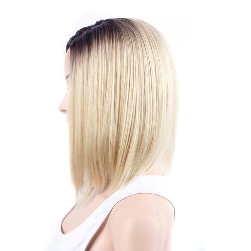 Wig Stands Fashion 2018 Modern Gold Hair Lace Front Wig Long Straight Synthetic Wigs For Women Heat Friendly Drop shippingJune12