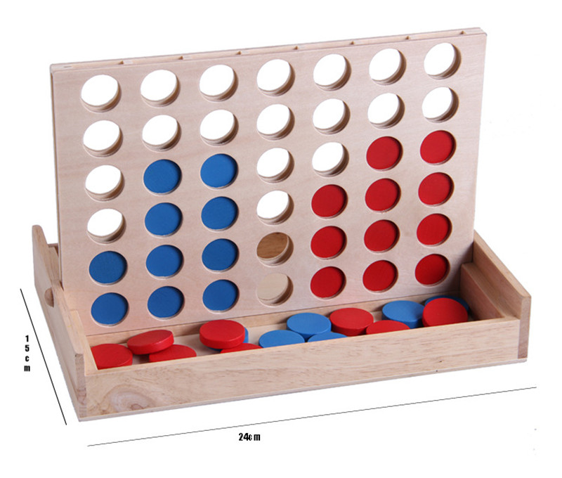 New Wooden Baby Toy Three-dimensional Four Chess  Baby Educational Toys Baby Gifts