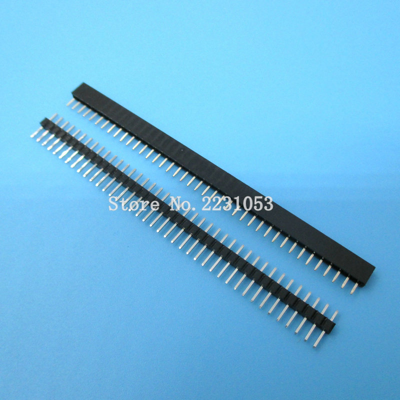 20PCS/Lot 1x40 Pin 2 mm Single Row Female & Male Pin Header connector цена