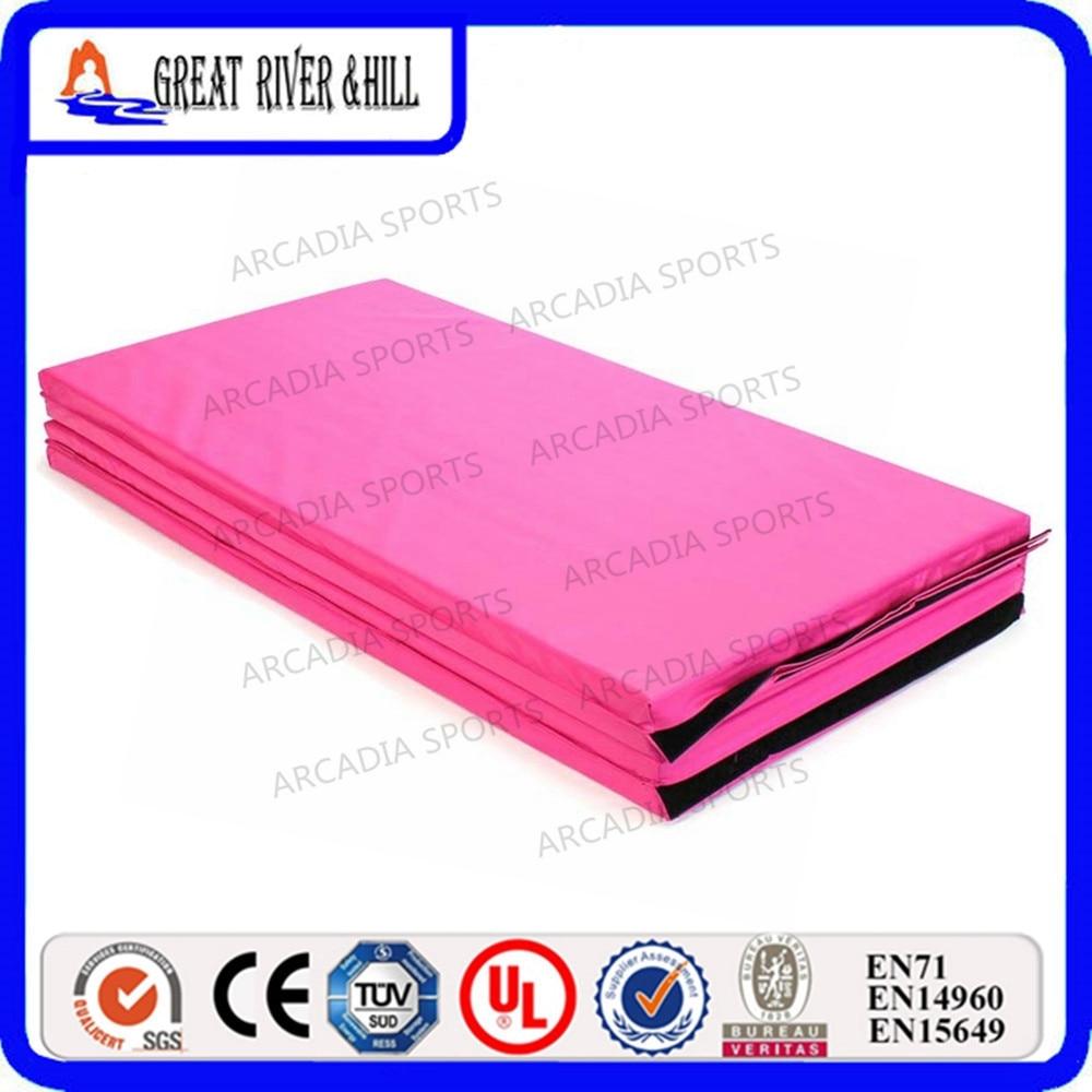 все цены на durable gym pvc floor mat folding gymnastics mat 2.4mx1.2mx3cm онлайн