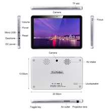 Touyinger S8 DLP Tablet PC Projector Android Wifi Bluetooth Portable Smart Proyector Battery Touch Pad Home Projector Beamer TF
