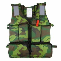 Adult Life Jacket Professional Fishing Camouflage Clothing Swimming Rafting Surfing For Flood Control Clothes Vest Thick