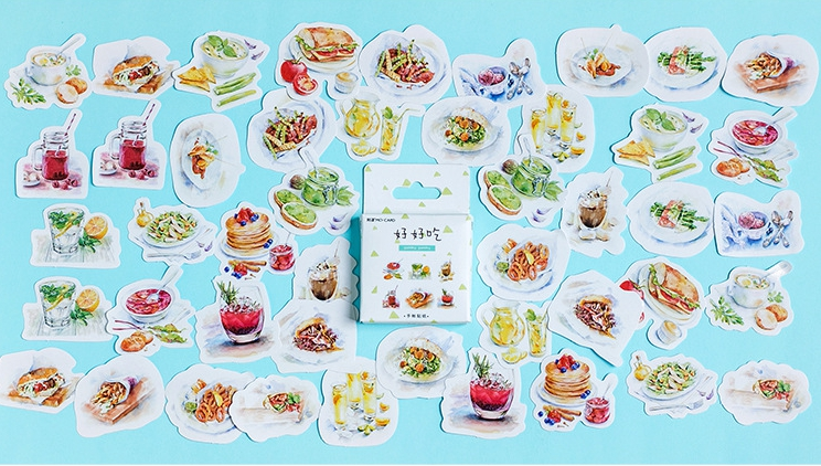 S7- Eat Food Diy Decorative Stickers(1pack=46pieces)