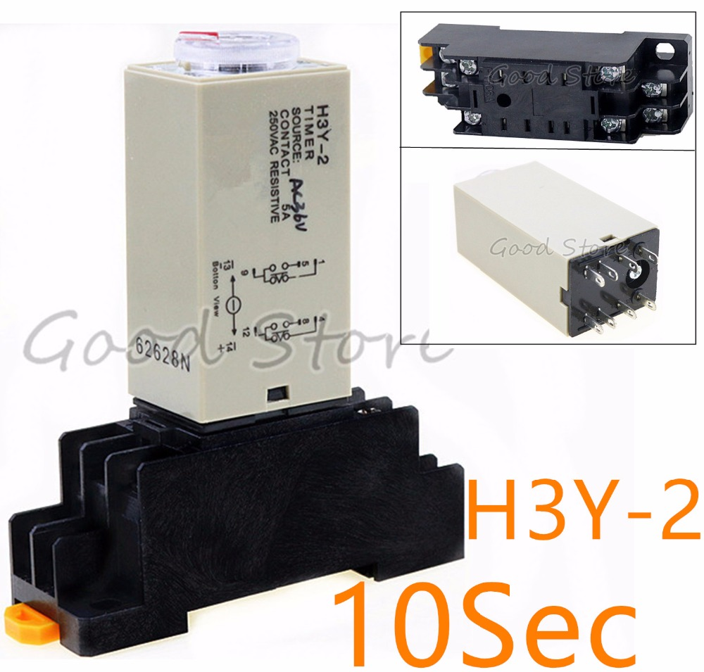 hight resolution of 1set h3y 2 12v 24v 110v 220v small time relay 0 10sec st6p electronic