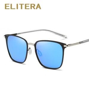 Image 5 - ELITERA Nieuwe Mode Merk Designer Legering Zonnebril Gepolariseerde Spiegel lens Mannelijke oculos zonnebril Eyewear Voor Mannen