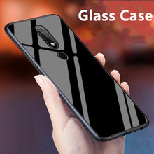 цена на Luxury Glass Case For Nokia 6.1 Plus Silicone TPU Frame+Glass Back Cover Accessory For Nokia X6 2018 TA-1099 Coque Fundas 5.8