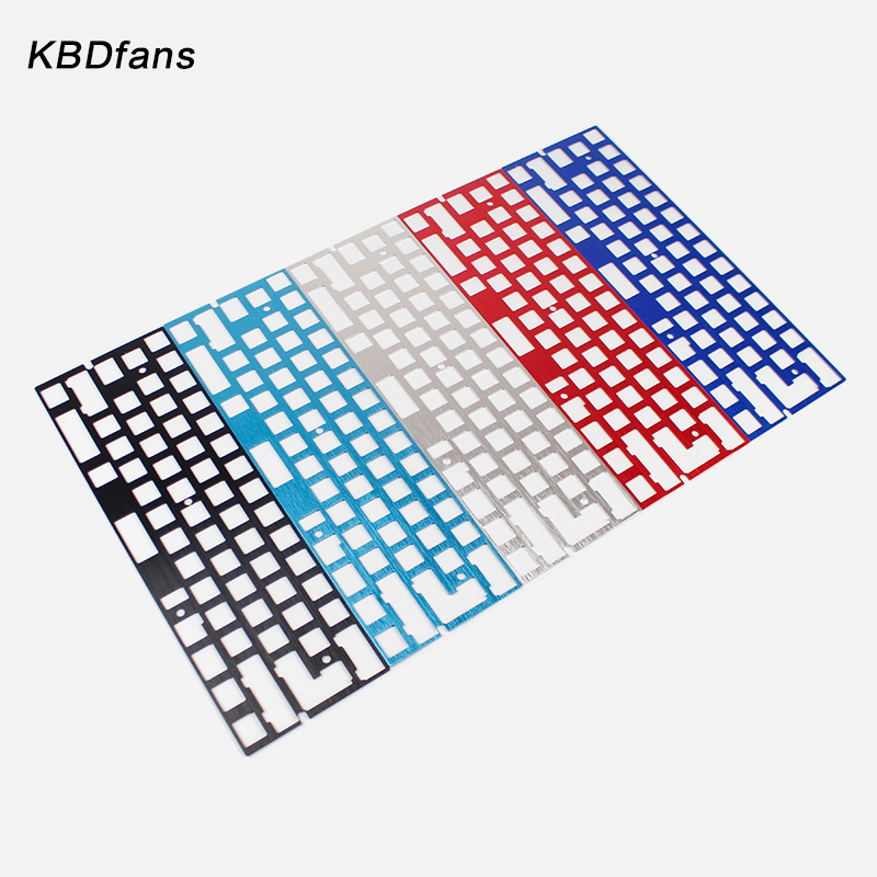 Mechanical keyboard cnc 60 anode aluminum drawing concurrence positioning plate support ISO ANSI for GH60 pcb 60%keyboard DIY jv33 keyboard pcb assy printer parts