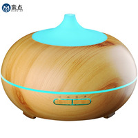 Wood Grain 300ml Ultrasonic Aroma Diffuser Essential Oils Cool Mist Air Aromatherapy Humidifier With 10 Hours