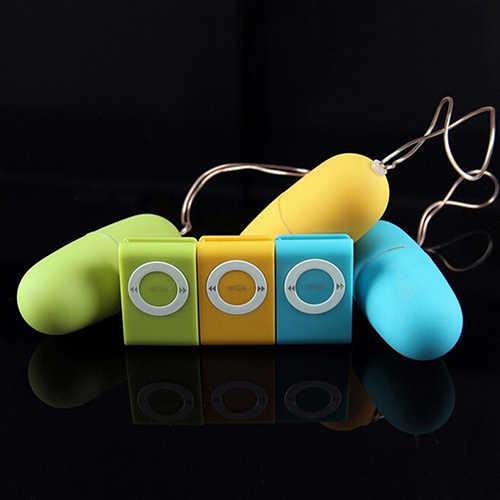 Kadınlar için titreşimli Jump yumurta kablosuz MP3 uzaktan kumanda vibratör seks oyuncakları ürünleri damla nakliye