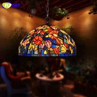 Фумат витражи Bombax Стекло подвесные лампы Tiffany E26 E27 светодиодный Кухонный инвентарь подвесной светильник подвесные светильники