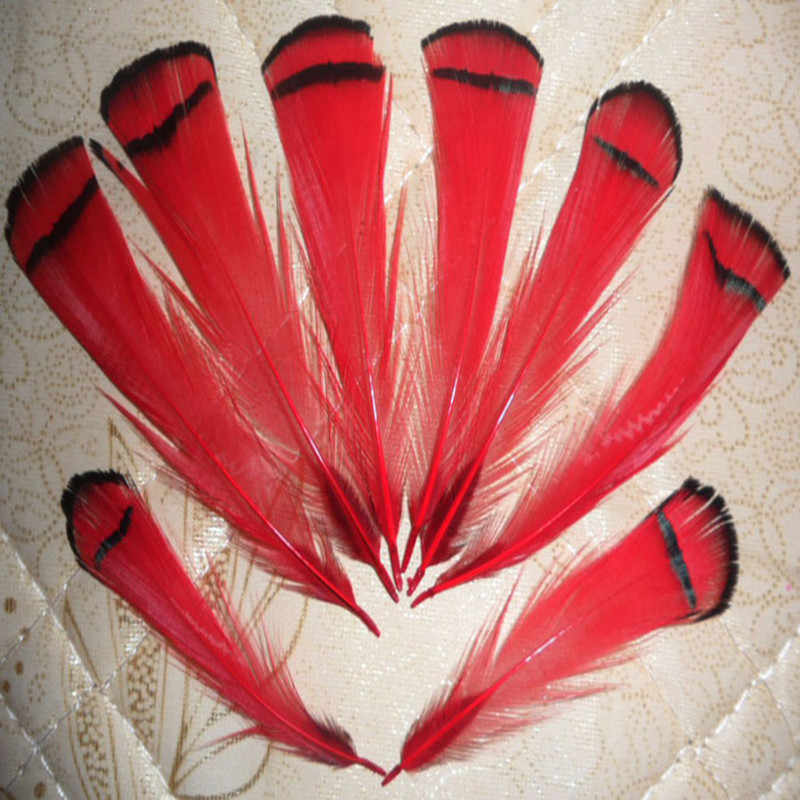 wholesale Scarce 20pcs high quality natural cover chicken feather 4-8cm / 2-3.5inch variety of decorative film red