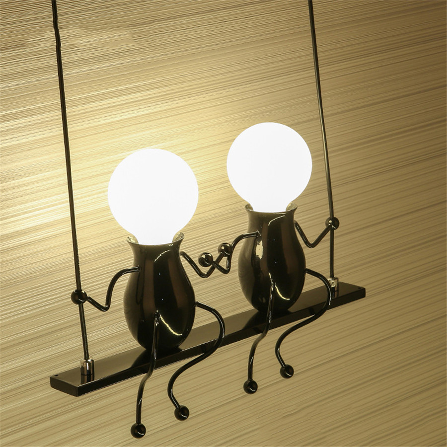 Modern Cartoon Doll LED Wall Lamp Creative Mounted Iron Sconce Wall Light for Kids Baby Bedroom Corridor Wall Light modern cartoon doll wall light led creative mounted iron sconce lighting lamp for kids baby room living room bedroom decoration