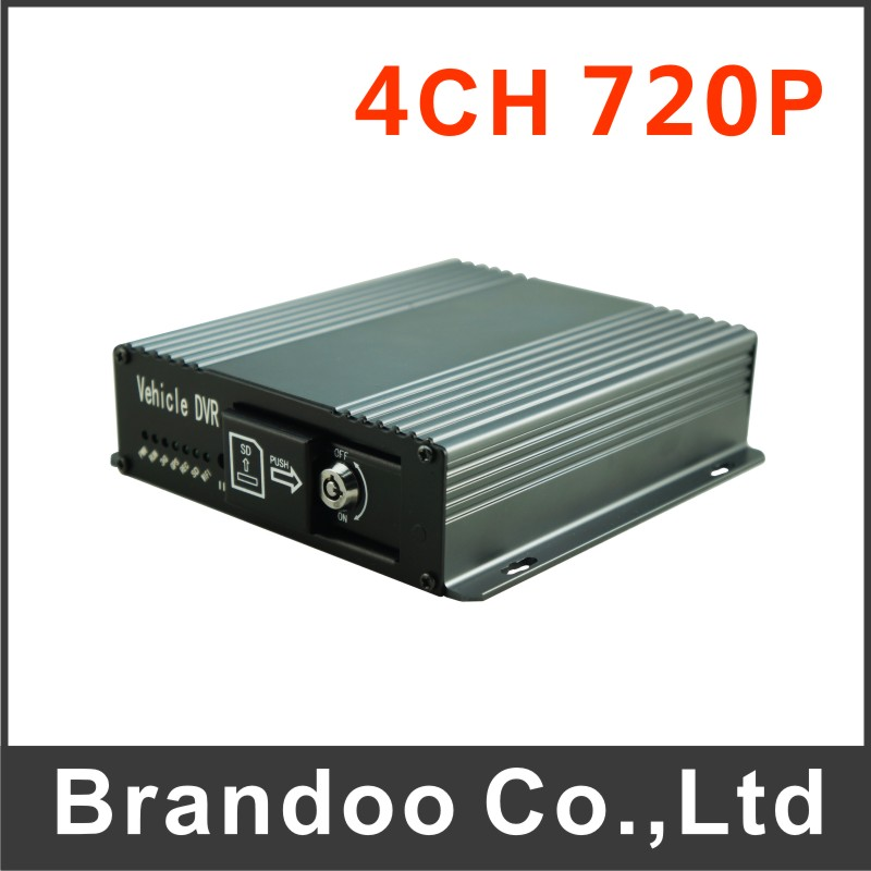 New arrival 4ch 720p car dvr works with ahd camera, 128gb sd memory