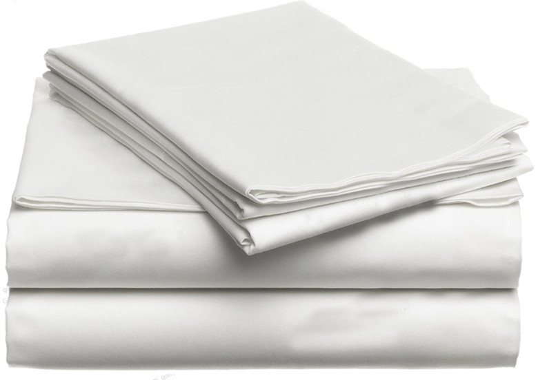 100 Egyptian cotton 1200 TC New Zealand size white light gray colors fitted sheet duvet cover