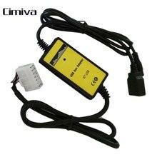 Coche USB AUX MP3 Adaptador de reproductor de CD de Música Del Coche Del Vehículo buena Interfaz Aux Adaptador USB 5 + 7 Adaptador USB Para Toyota