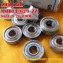 ZOKOL 629 ZZ 2RS RS bearing 629ZZ P5Z4 629RS Miniature  629-ZZ Deep Groove ball bearing 9*26*8mm