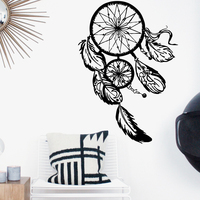 Art Design Dream catcher Vinyl Wall Sticker Home Decor Feathers Night Symbol Indian Decal Bedroom Livingroom Dream catch