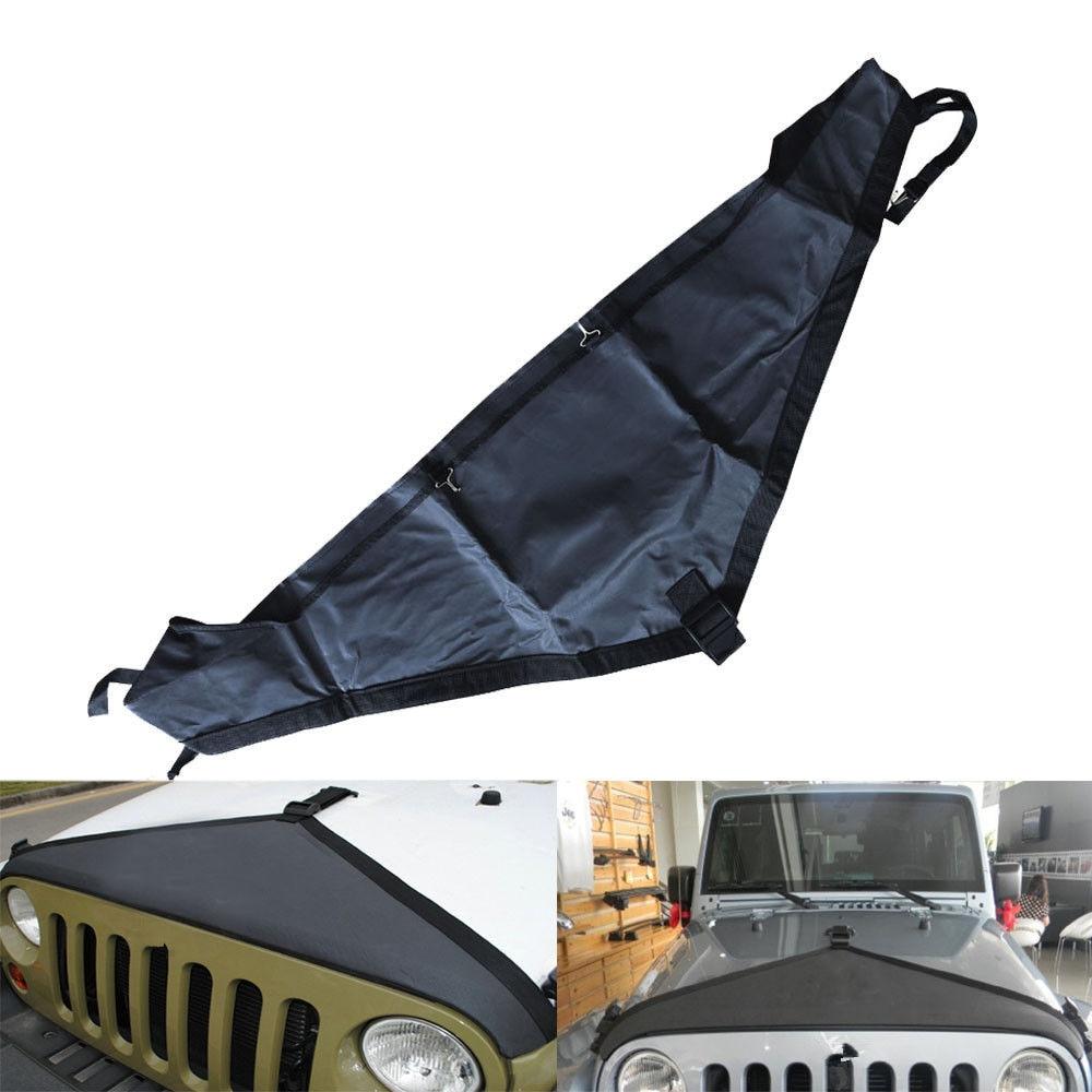 Новинка, защитный чехол для капота переднего торца, V-образный виниловый черный (1 шт.) для Jeep Wrangler JK 07 Up Rubicon Sahara, аксессуары, запчасти