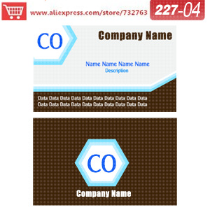 0227 04 business card template for pearl cardstock business
